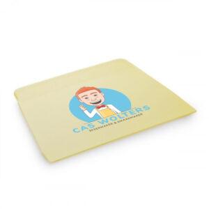 Deegkrabber met Cas' logo