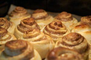 Cinnamon Rolls in de oven